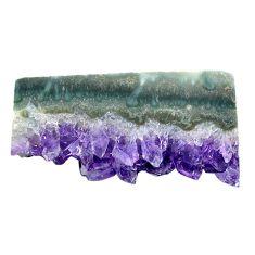 Natural 44.30ct amethyst cluster slice druzy purple 41x22mm loose gemstone s4671