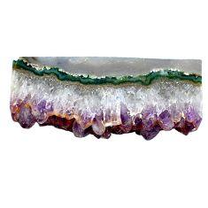 Natural 44.80ct amethyst cluster slice druzy purple 41x17mm loose gemstone s4677