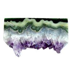 Natural 61.85ct amethyst cluster slice druzy purple 41x23mm loose gemstone s4680
