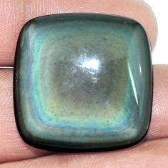 Natural 25.85cts obsidian eye rainbow 25x25 mm cushion loose gemstone s4794