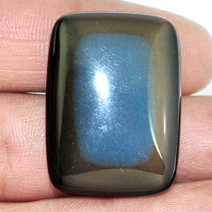 Natural 32.65cts obsidian eye rainbow 30x22 mm octagan loose gemstone s4795
