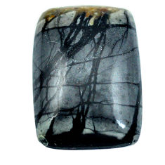 Natural 22.15cts picasso jasper black 24x18 mm octagan loose gemstone s4867