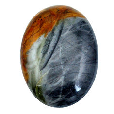 Natural 17.35cts picasso jasper black cabochon 24x17mm oval loose gemstone s4877