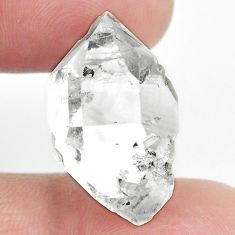 Natural herkimer diamond white rough 24x14 mm fancy loose gemstone s4993