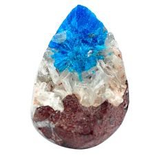 Natural 7.35cts cavansite blue rough 18x12 mm fancy loose gemstone s5124