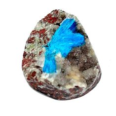 Natural 12.40cts cavansite blue rough 21x17 mm fancy loose gemstone s5125