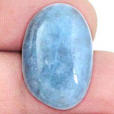 Natural 16.30cts aquamarine blue cabochon 22x15 mm oval loose gemstone s5266