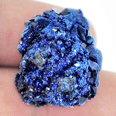 Natural 46.35cts azurite druzy blue rough 23x20 mm fancy loose gemstone s5405