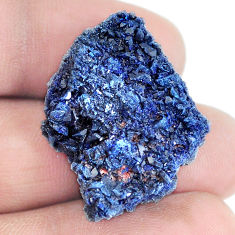 Natural 47.35cts azurite druzy blue rough 29x24 mm fancy loose gemstone s5412