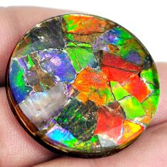 Natural 46.30cts ammolite triplets multicolor 30x30 mm loose gemstone s5550