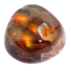 Natural 11.30cts mexican fire agate multi color 15x15 mm loose gemstone s5895