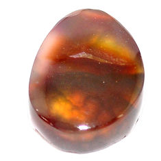 Natural 9.35cts mexican fire agate multi color 16x12 mm loose gemstone s5916