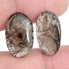 Natural 16.30cts agni manitite brown pair 19x12 mm oval loose gemstone s6333