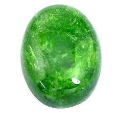 Natural 13.45cts chrome diopside green cabochon 18x13 mm loose gemstone s6474