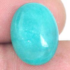 Natural 8.40cts peruvian amazonite green cabochon 16x12 mm loose gemstone s6569
