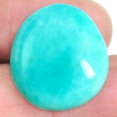 Natural 20.10cts peruvian amazonite green 23x20 mm fancy loose gemstone s6582