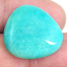 Natural 19.35cts peruvian amazonite green 22x20 mm fancy loose gemstone s6585