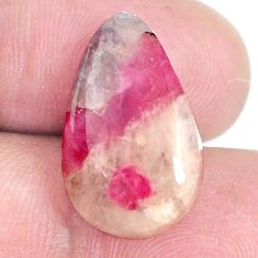Natural 11.30cts tourmaline in quartz pink 20x12 mm pear loose gemstone s6705