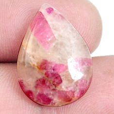 Natural 13.25cts tourmaline in quartz pink 20x15 mm pear loose gemstone s6712
