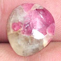 Natural 5.10cts tourmaline in quartz pink 13x12 mm fancy loose gemstone s6718