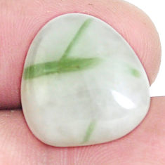 Natural 11.25cts tourmaline in quartz green 17x16 mm fancy loose gemstone s6721