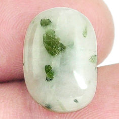 Natural 7.40cts tourmaline in quartz green 16x11 mm fancy loose gemstone s6728