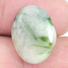 Natural 8.25cts tourmaline in quartz green 18x13.5 mm fancy loose gemstone s6730