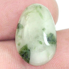 Natural 9.05cts tourmaline in quartz green 17x11 mm fancy loose gemstone s6732