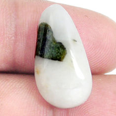 Natural 11.35cts tourmaline in quartz green 22x12 mm fancy loose gemstone s6735