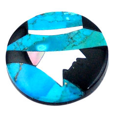 5.10cts sleeping beauty turquoise onyx pearl 16.5x16.5 mm loose gemstone s6851