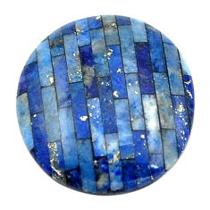 Natural 7.40cts lapis lazuli blue cabochon 18x16 mm oval loose gemstone s6855