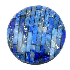 Natural 8.45cts lapis lazuli blue cabochon 18x16 mm oval loose gemstone s6858