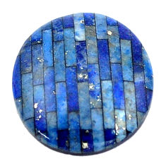 Natural 6.30cts lapis lazuli blue cabochon 18x16 mm oval loose gemstone s6860