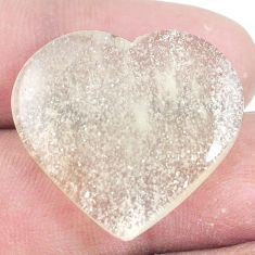 Natural 23.45cts libyan desert glass cabochon 25x27mm heart loose gemstone s7139