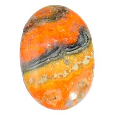 Natural 36.30cts bumble bee australian jasper 35x22 mm oval loose gemstone s7164