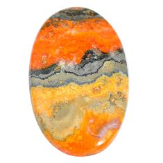 Natural 56.30cts bumble bee australian jasper 43x26 mm oval loose gemstone s7172