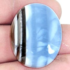 Natural 34.45cts owyhee opal blue cabochon 31x25 mm oval loose gemstone s7234