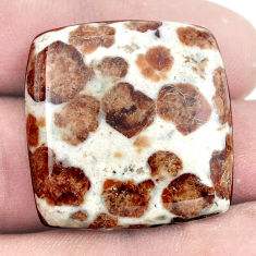Natural 50.15cts garnet in limestone spessartine 27x27 mm loose gemstone s7282