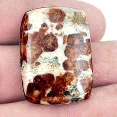 Natural 39.45cts garnet in limestone spessartine 20x22 mm loose gemstone s7283