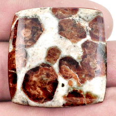 Natural 52.40cts garnet in limestone spessartine 32x30 mm loose gemstone s7284