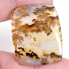 Natural 36.30cts plum agate yellow cabochon 37x29mm octagan loose gemstone s7306