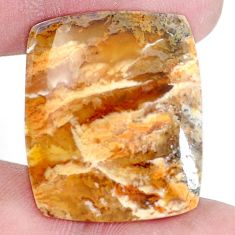 Natural 26.30cts plum agate yellow cabochon 27.5x23 mm loose gemstone s7313