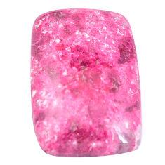 Natural 29.35cts thulite pink cabochon 27x18 mm octagan loose gemstone s7321
