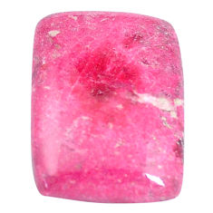 Natural 21.30cts thulite pink cabochon 22.5x17 mm octagan loose gemstone s7325