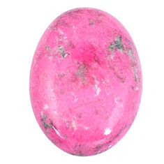 Natural 28.15cts thulite pink cabochon 30x20 mm oval loose gemstone s7329