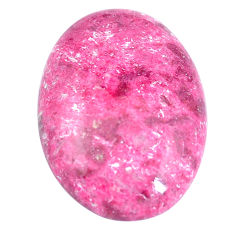 Natural 28.10cts thulite pink cabochon 30x21 mm oval loose gemstone s7332