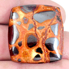 Natural 39.35cts bauxite brown cabochon 28x26 mm octagan loose gemstone s7423