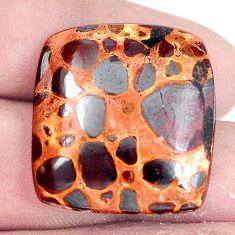 Natural 30.10cts bauxite brown cabochon 26.5x25 mm octagan loose gemstone s7425