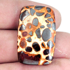 Natural 28.45cts bauxite brown cabochon 31x20 mm octagan loose gemstone s7428