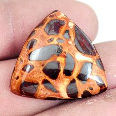 Natural 25.10cts bauxite brown cabochon 26x24 mm trillion loose gemstone s7434